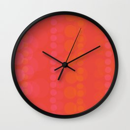 String of Pink Pearls Wall Clock