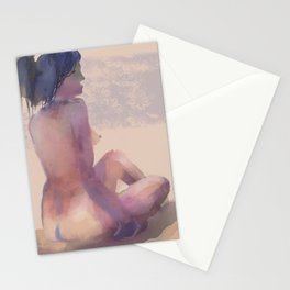 Jill Seated, Posing Stationery Cards