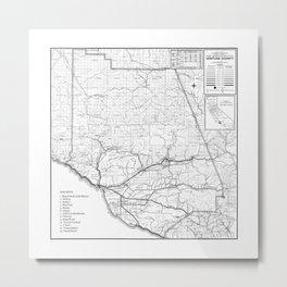 Ventura County Surf Map Metal Print