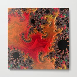 Fire and Beauty Metal Print