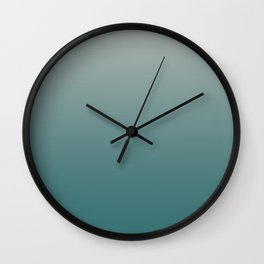 BM Trending Color Beau Green 2054-20 & Color of the Year Metropolitan Gray AF-690 Gradient Ombre Wall Clock