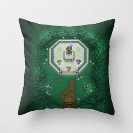Zelda Mastesword Pixels Throw Pillow