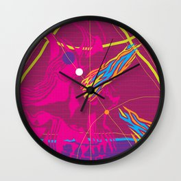 Graphic Still Life with Skull 03 Wall Clock