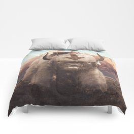 Appa in the Mountains Comforters