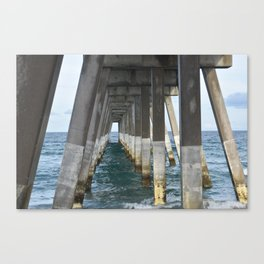 Under the Pier, Into the Ocean (Wrightsville Beach, NC) Canvas Print