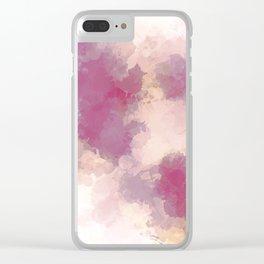 Mauve Dusk Abstract Cloud Design Clear iPhone Case