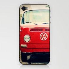 Red Vintage Bus iPhone & iPod Skin