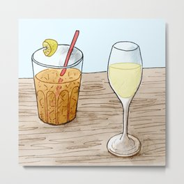 Iced Tea and Pinot Gris Metal Print