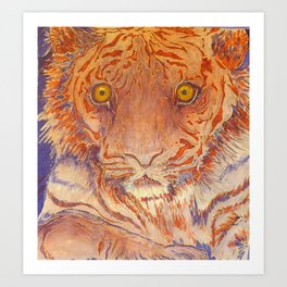 Braveheart - Handpainted Silk Tigercup Art Print