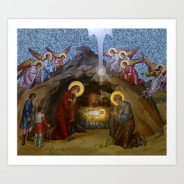 The Manger of Jesus Art Print