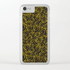 Festive curves Clear iPhone Case