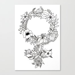 Feminist Flower  2.0 Canvas Print