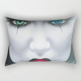 Harlequin Eyes Of A Different Color Rectangular Pillow