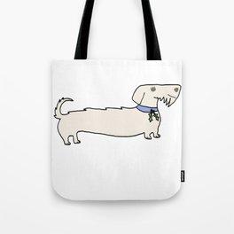 Dacshund with Holly Tote Bag
