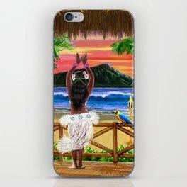 Hawaiian Sunset Hula Dancer iPhone Skin