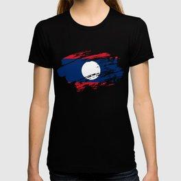 Laos Flag Tee T-shirt