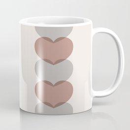 Hearts - Cocoa & Gray Coffee Mug