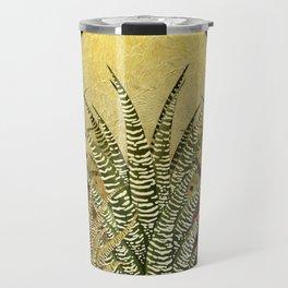 """Golden aloe Zebra midnight sun"" Travel Mug"