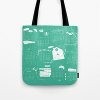 calendar Tote Bags featuring Calendar 2015 by Ananá