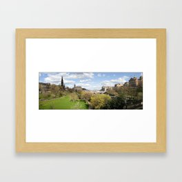 Edinburgh, Scotland panorama Framed Art Print