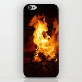 paper on fire and burn iPhone Skin