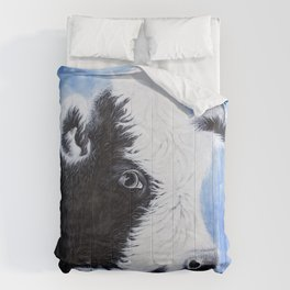 Black and White Cow Acrylic Painting Comforters