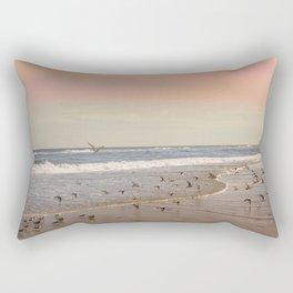 Pink Sandy Beaches Rectangular Pillow