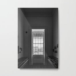 The window in a narrow room. Metal Print