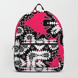 Geometric Tribal Hot Pink & Black Backpack
