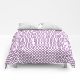 Violet Tulle and White Polka Dots Comforters