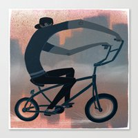 bike Canvas Prints featuring bike by robotrake