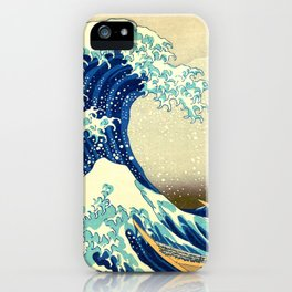 The Great Wave Off Kanagawa Katsushika Hokusai iPhone Case