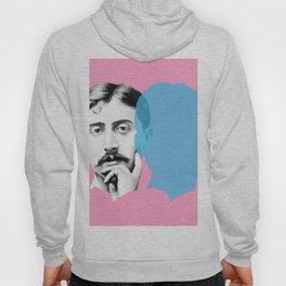 Marcel Proust portrait - pink blue Hoody