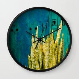 Blue Green Gran Canaria Colors Wall Clock