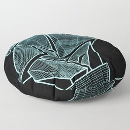 Pockets - Inverted Blue Floor Pillow