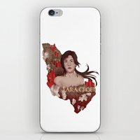 lara croft iPhone & iPod Skins featuring Lara Croft by Natalie Lucht