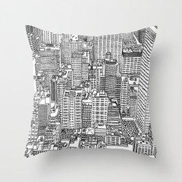 New York View 3 Throw Pillow