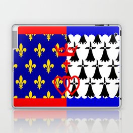 pays de la loire region flag france province Laptop & iPad Skin