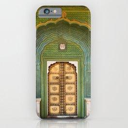 Green gate City Palace Jaipur, India iPhone Case