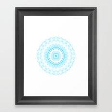 Snowflake #005 transparent Framed Art Print