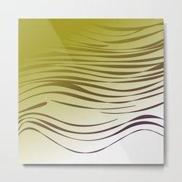 gold wild lines ethnic Metal Print