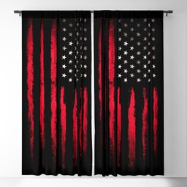 American flag Vintage Black Blackout Curtain