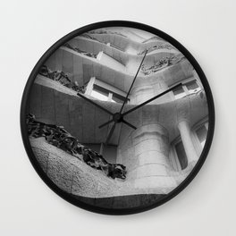 Curves and Ironwork Wall Clock