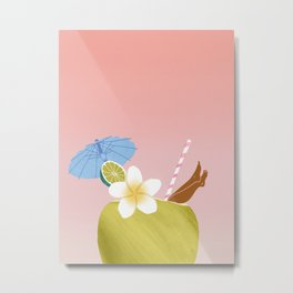 Lime in the Coconut Metal Print