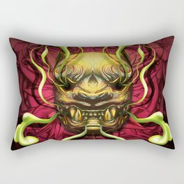 Japanese Tiger Green Smoke Rectangular Pillow