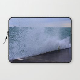 Lake Michigan Natural Fountains #1 (Chicago Waves Collection) Laptop Sleeve