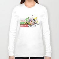 tour de france Long Sleeve T-shirts featuring Tour De France by Wyatt Design