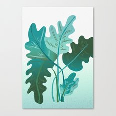 Round Leaves Flow Canvas Print