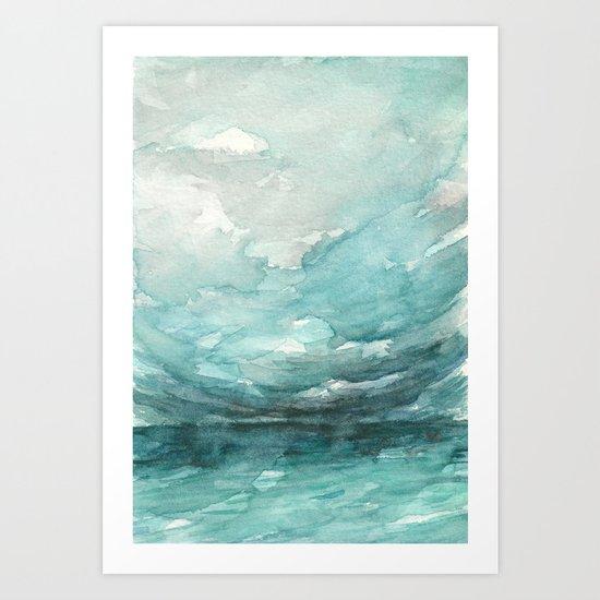 Above the Horizon Art Print