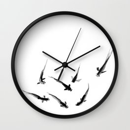 Ink Pond Wall Clock